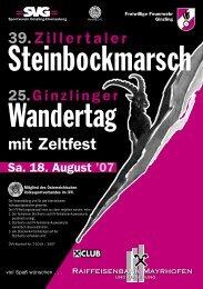 Unsere Sponsoren - Ginzling-Dornauberg