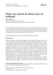 What can schools do about cases of bullying?