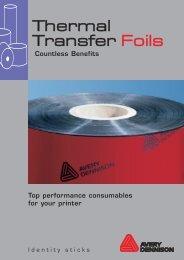 Thermal Transfer Foils - Avery Dennison