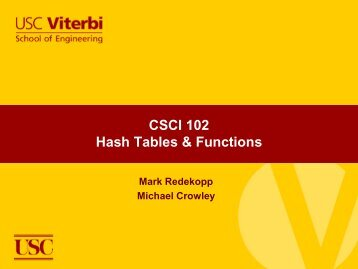 Hash Tables & Functions