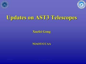 Updates on AST3 Telescopes