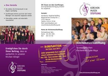 Kirchenmusikstiftung - Evangelisch-lutherischer Kirchenkreis Syke ...