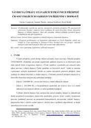 návrh na úpravu stávajících právních předpisů čr souvisejících