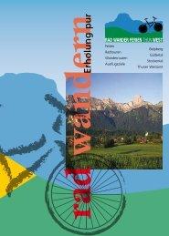 Download Broschüre 2009 (PDF) - Rad Wander Ferien Thun-West