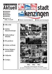 Historisches Altstadtfest vom 6. - 8. Juli 2007 - Kenzingen