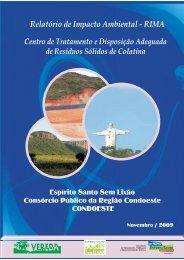 RIMA_COLATINA-R3 copia.pmd - Instituto Estadual de Meio Ambiente