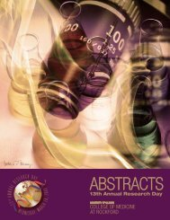 ABSTRACTS - University of Illinois College of Medicine