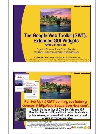 (GWT): Extended GUI Widgets - Custom Training Courses ...