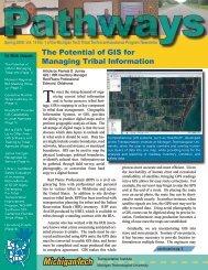 Pathways Volume 14, No. 1 Spring 2008 - Michigan Tech Tribal ...