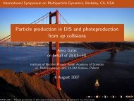 Particle production in DIS and photoproduction from ep ... - Zeus