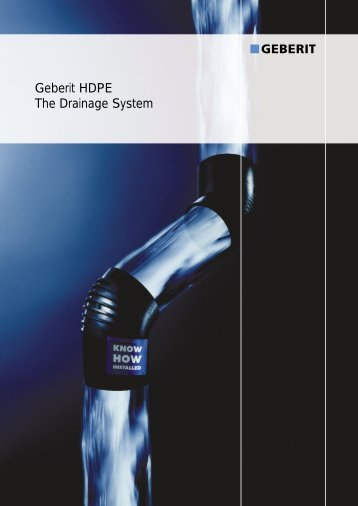 Geberit HDPE The Drainage System