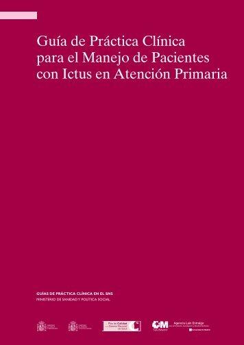 Guía de Práctica Clínica para el Manejo de Pacientes ... - GuíaSalud
