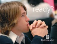 Are you - Elizabethtown College