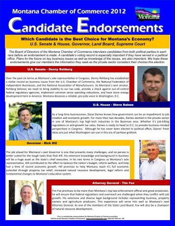ENDORSEMENT - Montana Chamber of Commerce