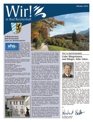 Wir! Ausgabe Oktober 2012 - Stadt Bad Reichenhall