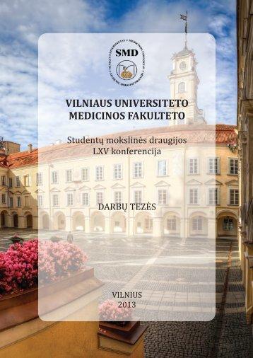Vilniaus universiteto - SMD - Vilniaus universitetas
