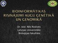 Bioinformātika - Latvijas Universitāte