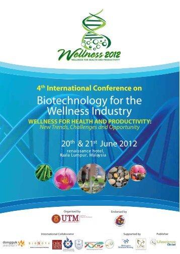 Biotechnology for the Wellness Industry - IBD - UTM
