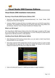 Visual Studio 2008 Express Editions Tutorial