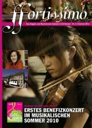 Die Konzerte 2010 - Musikalische Sommer