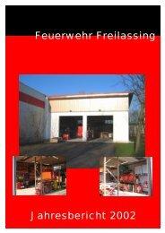 Feuerwehr Freilassing Jahresbericht 2002