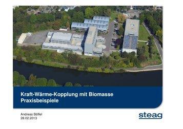 Kraft-Wärme-Kopplung mit Biomasse Praxisbeispiele