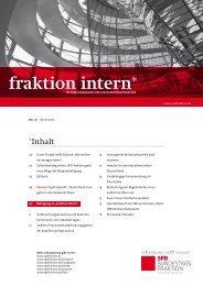 fraktion intern* - SPD Bundestagsfraktion