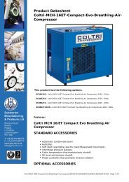 Product Datasheet: Coltri-MCH-16ET-Compact-Evo-Breathing-Air ...