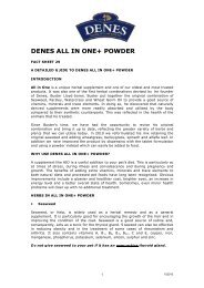 "Download PDF version of ""DENES All-in-One+ Powder"""