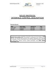 solid protocol interface control description - SOLID APPLIED ...
