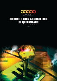 MOTOR TRADES ASSOCIATION OF QUEENSLAND - Realview