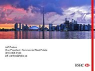 Jeff Parkes Vice President, Commercial Real Estate (416) 868-8143 ...