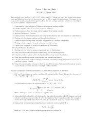 Exam II Review Sheet