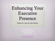 Enhancing Your Executive Presence - Texas Conference for Women