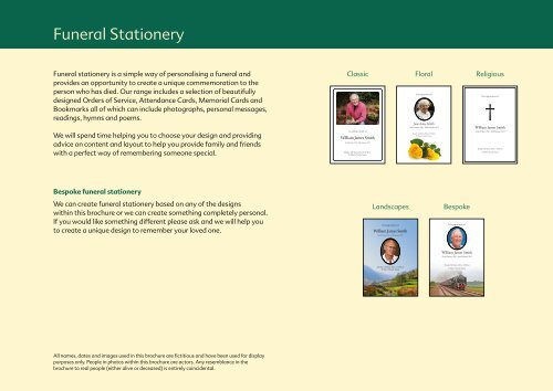 Funeral Stationery - The Co-operative