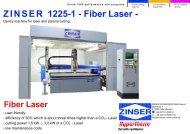 ZINSER 1225-1 - Fiber Laser - - Zinser Schweisstechnik GmbH