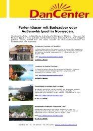 Ferienhäuser mit Badezuber oder Außenwhirlpool in ... - DanCenter