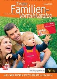 Vorteilskatalog - Tirol - Familienpass