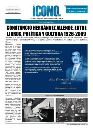constancio hernández allende, entre libros, política y cultura 1926 ...