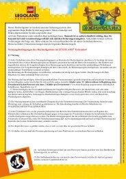 Nutzungsbedingungen (PDF) - LEGOLAND® Deutschland ...