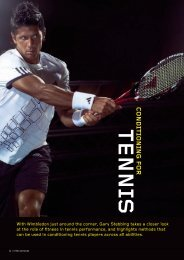 Conditioning for Tennis - Fitness Professionals