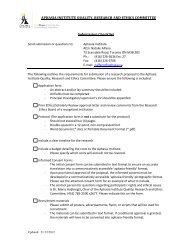Meeting and Deadline Dates 2009/2010 - Aphasia Institute