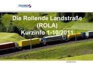 Die Rollende Landstraße (ROLA) Kurzinfo 1-10/2011