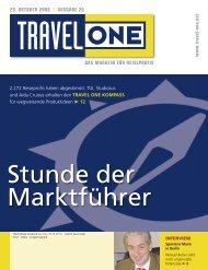 DAS MAGAZIN FÜR REISEPROFIS 29. OKTOBER 2008 l - Travel-One