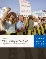 Morocco: 'Stop Looking for Your Son'. - Human Rights Watch