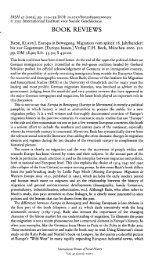 book reviews - Klaus J. Bade