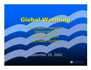Global Warming - University of Washington