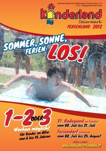 SoMMeR , Sonne, - Kinderland Steiermark