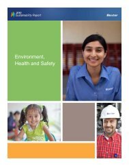 Environment, Health and Safety - Baxter Sustainability Report