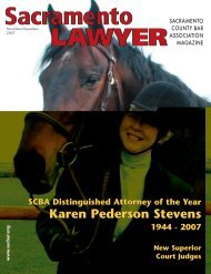 November / December 2007 - Sacramento County Bar Association